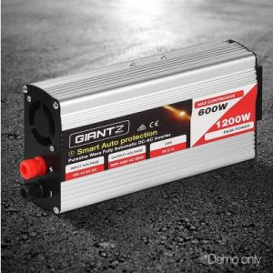 Giantz 600W Puresine Wave DC-AC Power Inverter SKU: INVERT-P-600W-SL